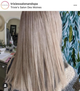 beige toned blonde hair, after